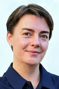 A picture of Kate Lavrinenko, a specialist in AI Risk, working on the financial services side of Deloitte Risk Advisory