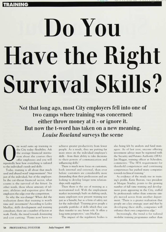 Do you have the right survival skills?